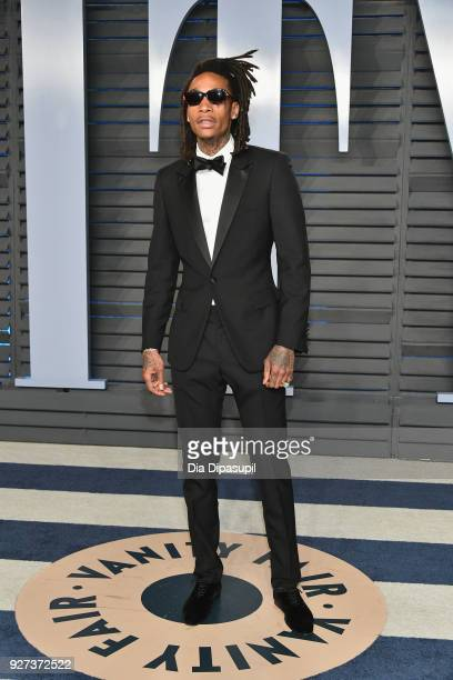 Wiz Khalifa attends the 2018 Vanity Fair Oscar Party hosted by Radhika Jones at Wallis Annenberg Center for the Performing Arts on March 4 2018 in...