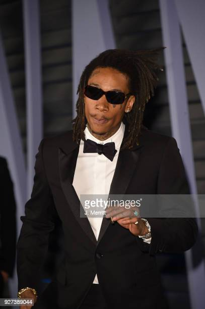 Wiz Khalifa attends the 2018 Vanity Fair Oscar Party hosted by Radhika Jones at the Wallis Annenberg Center for the Performing Arts on March 4 2018...