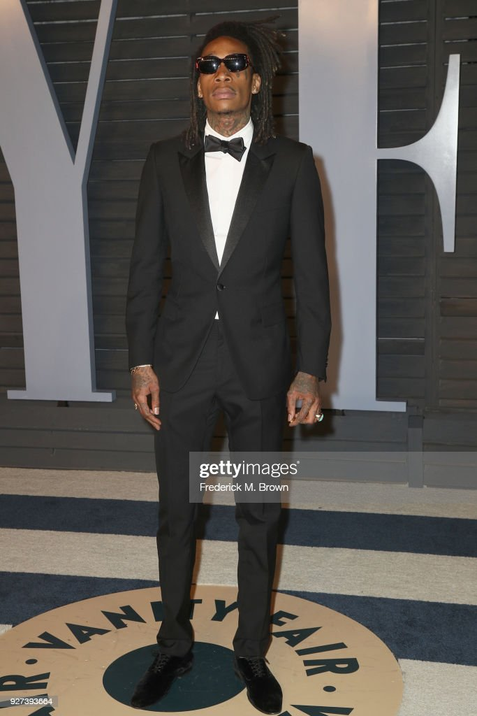 Wiz Khalifa attends the 2018 Vanity Fair Oscar Party hosted by Radhika Jones at Wallis Annenberg Center for the Performing Arts on March 4, 2018 in Beverly Hills, California.