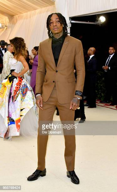 Wiz Khalifa attends the Heavenly Bodies Fashion The Catholic Imagination Costume Institute Gala at The Metropolitan Museum of Art on May 7 2018 in...