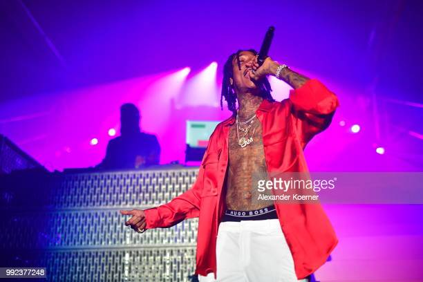 Wiz Khalifa attends the HUGO show during the Berlin Fashion Week Spring/Summer 2019 at Motorwerk on July 5 2018 in Berlin Germany