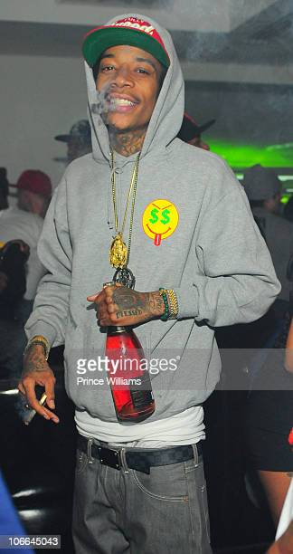 Wiz Khalifa attends the Wiz Khalifa concert after party at Compound on November 6 2010 in Atlanta Georgia