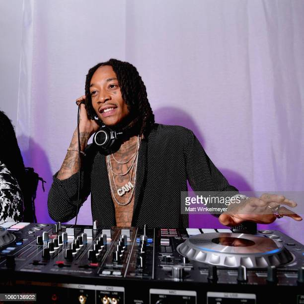 Wiz Khalifa DJs during the 2018 Baby2Baby Gala Presented by Paul Mitchell at 3LABS on November 10 2018 in Culver City California