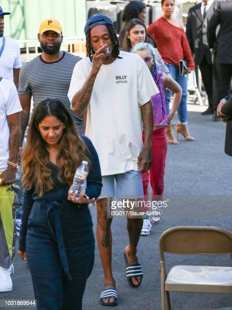 Wiz Khalifa is seen arriving at the 'Jimmy Kimmel Live' on September 11 2018 in Los Angeles California