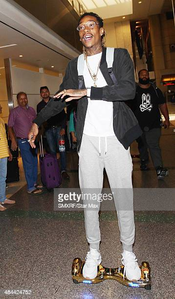 Wiz Khalifa is seen on August 18 2015 in Los Angeles California