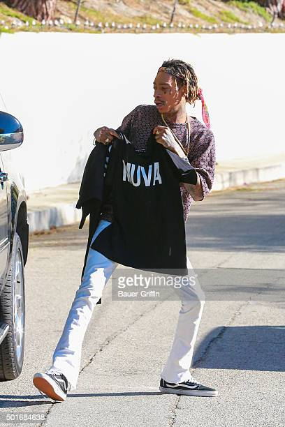 Wiz Khalifa is seen on December 16 2015 in Los Angeles California