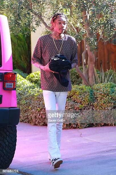 Wiz Khalifa is seen on December 16 2015 in Los Angeles California