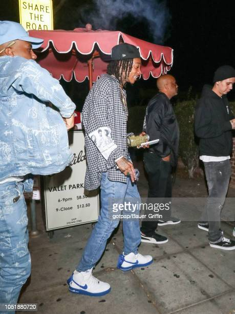 Wiz Khalifa is seen on October 11 2018 in Los Angeles California