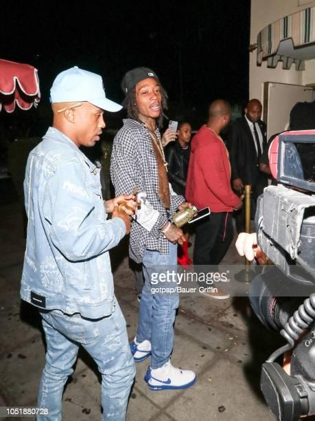 Wiz Khalifa is seen on October 11 2018 in Los Angeles California