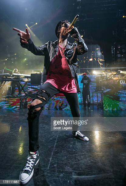 Wiz Khalifa performs as part of the Under The Influence of Music Tour at DTE Energy Music Theater on July 31 2013 in Clarkston Michigan