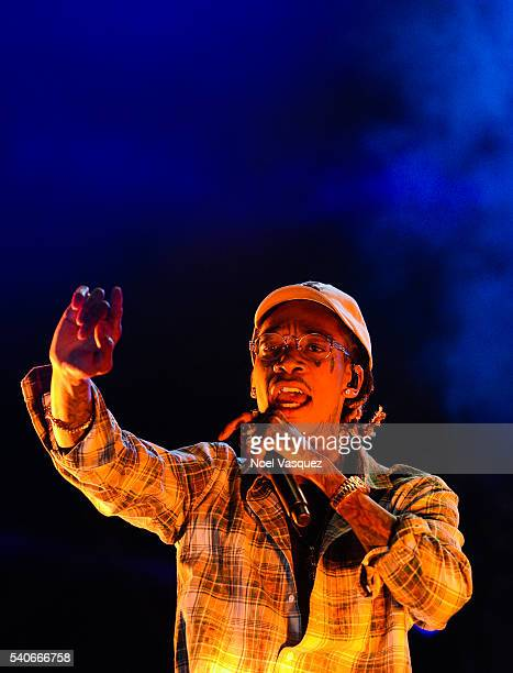 Wiz Khalifa performs at Doritos #MixArcade Day 2 at LA LIVE on June 15 2016 in Los Angeles California