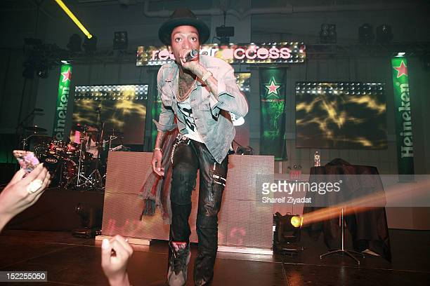 Wiz Khalifa performs at Pier 36 on September 15 2012 in New York City