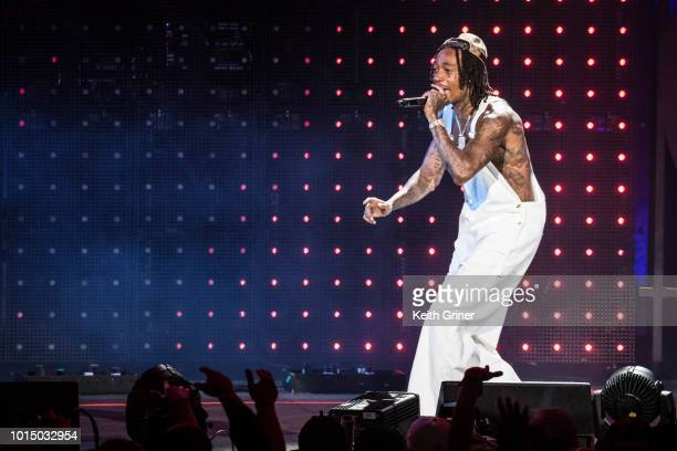 Wiz Khalifa performs at Ruoff Home Mortgage Music Center on July 31 2018 in Indianapolis Indiana