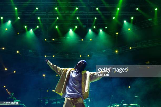 WIz Khalifa performs at Sahara Tent during the 2019 Coachella Valley Music And Arts Festival on April 13 2019 in Indio California