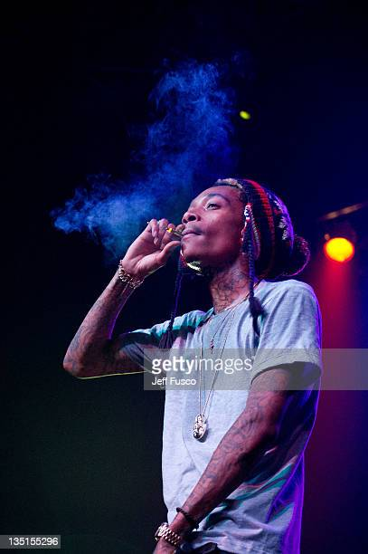Wiz Khalifa performs at the Electric Factory on December 6 2011 in Philadelphia Pennsylvania