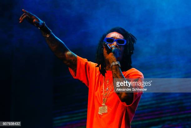 Wiz Khalifa performs during Lollapalooza Sao Paulo 2018 at the Interlagos racetrack on March 25 2018 in Sao Paulo Brazil *** Local caption ** Wiz...
