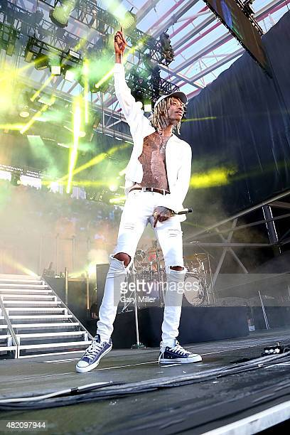 Wiz Khalifa performs in concert at the Austin360 Amphitheater on July 26, 2015 in Austin, Texas.