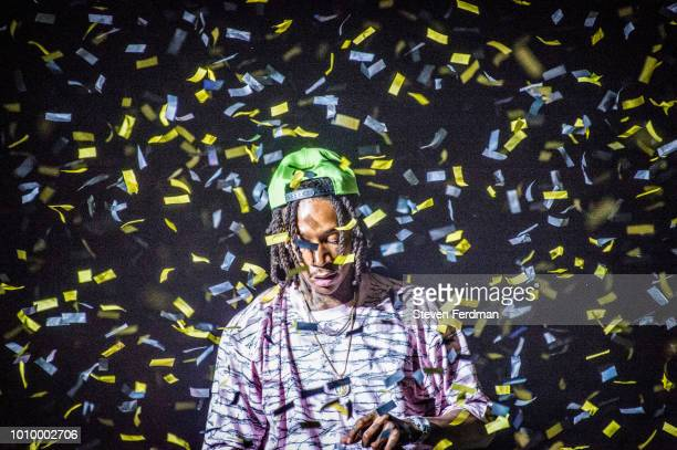 Wiz Khalifa performs live on stage in concert at the Ford Amphitheater at Coney Island Boardwalk on August 2 2018 in Brooklyn New York