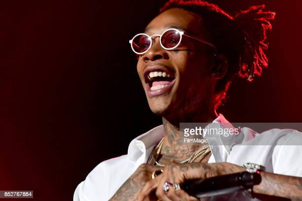 Wiz Khalifa performs on Ambassador Stage during day 2 of the 2017 Life Is Beautiful Festival on September 23 2017 in Las Vegas Nevada