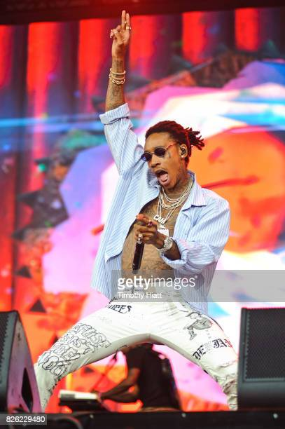Wiz Khalifa performs on Day One of Lollapalooza at Grant Park on August 3 2017 in Chicago Illinois