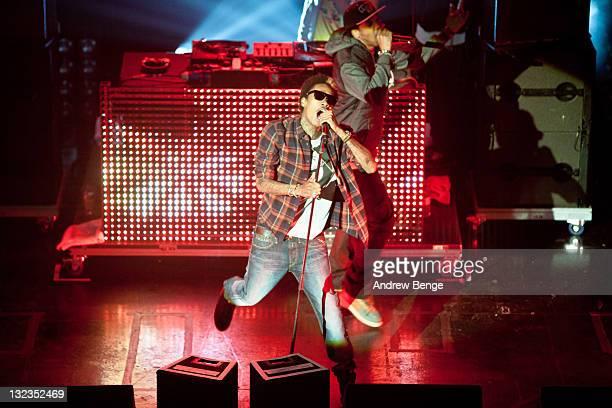 Wiz Khalifa performs on stage at O2 Academy on November 11, 2011 in Leeds, United Kingdom.