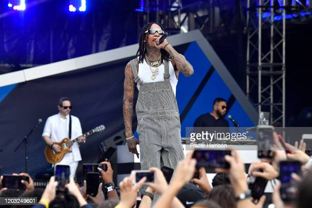 Wiz Khalifa performs onstage during Universal Pictures Presents The Road To F9 Concert and Trailer Drop on January 31 2020 in Miami Florida
