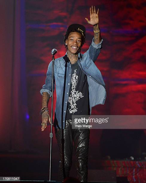Wiz Khalifa performs the Songwriters Hall of Fame 44th Annual Induction and Awards Dinner at the New York Marriott Marquis on June 13 2013 in New...
