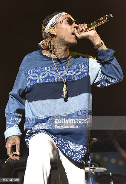 Wiz Khalifah performs during Power 106 Cali Christmas at The Forum on December 4 2015 in Inglewood California