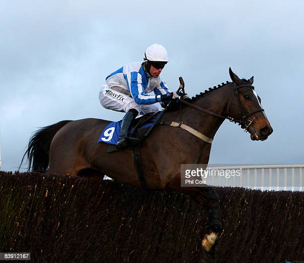 Wizard of Edge ridden by Timmy Murphy clears the final fence to win the Weatherbys Bank Silver Buck Handicap Chase at Wincanton racecourse on...