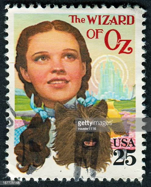 wizard of oz stamp - emerald green stock pictures, royalty-free photos & images