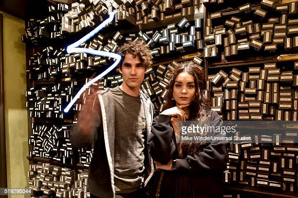 HOLLYWOOD 'Wizarding World of Harry Potter Attraction Opening' Pictured Actors Darren Criss and Vanessa Hudgens attend the opening of the 'Wizarding...