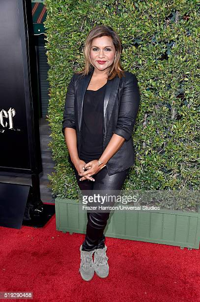 Wizarding World of Harry Potter Attraction Opening' -- Pictured: Actress Mindy Kaling arrives at the opening of the 'Wizarding World of Harry Potter'...