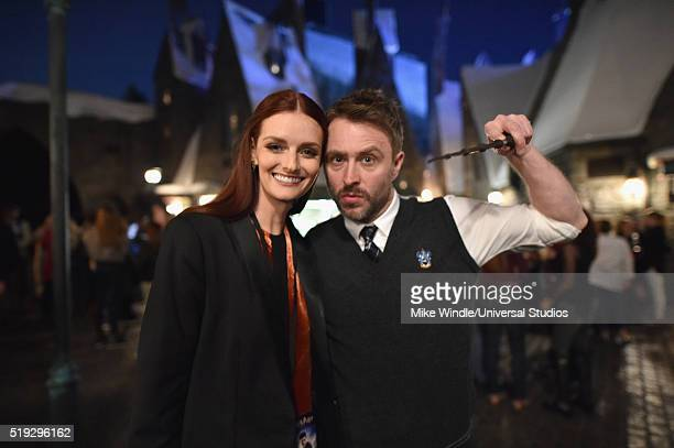 HOLLYWOOD 'Wizarding World of Harry Potter Attraction Opening' Pictured Actress Lydia Hearst and tv personality Chris Hardwick attend the opening of...