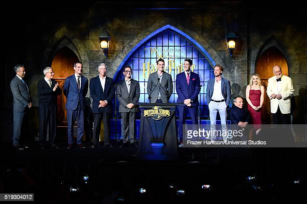HOLLYWOOD 'Wizarding World of Harry Potter Attraction Opening' Pictured Chairman and CEO of Warner Bros Entertainment Kevin Tsujihara vice chairman...