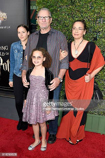 HOLLYWOOD 'Wizarding World of Harry Potter Attraction Opening' Pictured Claire O'Neill actor Ed O'Neill Sophia O'Neill and actress Catherine Rusoff...