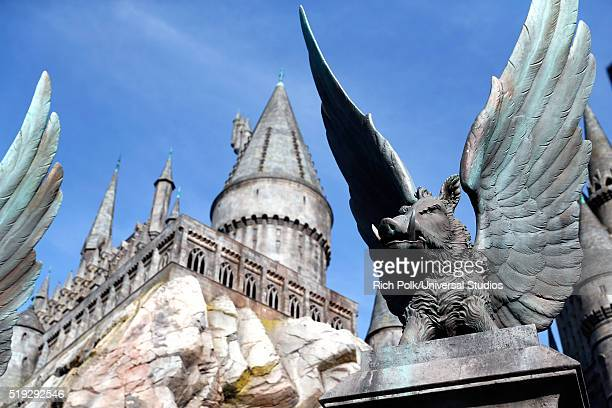 HOLLYWOOD 'Wizarding World of Harry Potter Attraction Opening' Pictured Exterior view of Hogwarts castle at the opening of the 'Wizarding World of...