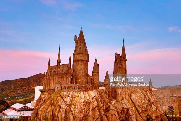 HOLLYWOOD 'Wizarding World of Harry Potter Attraction Opening' Pictured Exterior of Hogwarts School of Witchcraft and Wizardry at the opening of the...