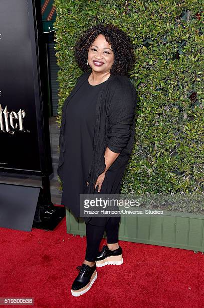 Wizarding World of Harry Potter Attraction Opening' -- Pictured: President, Warner Bros. Consumer Products, Pam Lifford arrives at the opening of the...