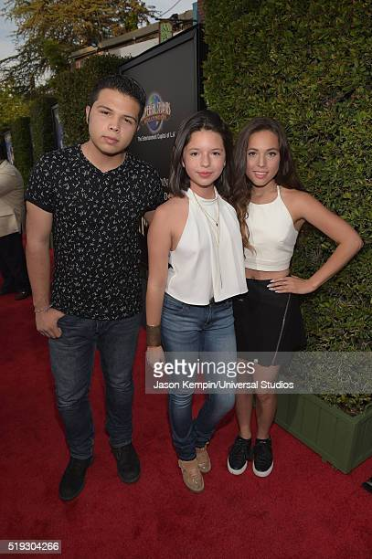 HOLLYWOOD 'Wizarding World of Harry Potter Attraction Opening' Pictured Recording artists Leonardo Aguilar Angela Aguilar and guest arrive at the...
