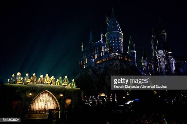HOLLYWOOD 'Wizarding World of Harry Potter Attraction Opening' Pictured View of the Hogwarts choir singing the school song at the opening of the...