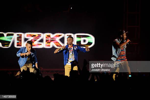 Wizkid and 2Kriss performs during the Wizkid 'Starboy Tour' at Hammersmith Apollo on June 4 2012 in London England