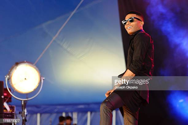 Wizkid attends/performs on day 1 of the Yahoo Wireless Festival at Queen Elizabeth Olympic Park on July 12 2013 in London England