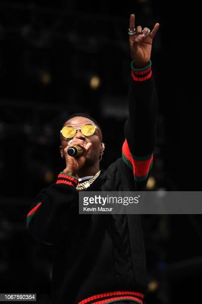 WizKid performs during the Global Citizen Festival Mandela 100 at FNB Stadium on December 2 2018 in Johannesburg South Africa