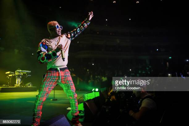 Wizkid performs on stage at The Royal Albert Hall on September 29 2017 in London England