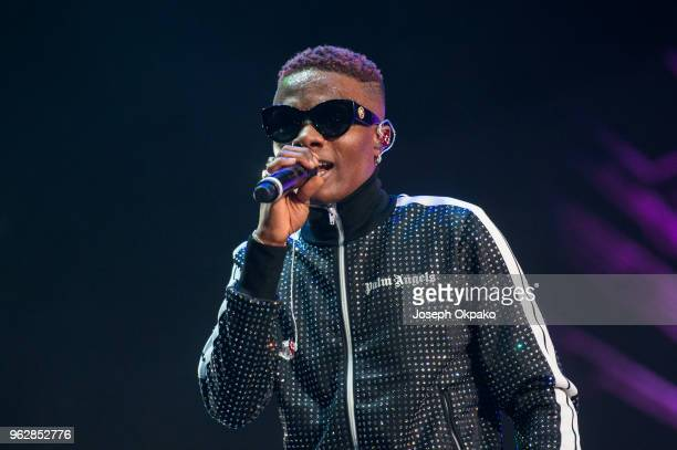 Wizkid performs on stage during AFROREPUBLIK festival at The O2 Arena on May 26 2018 in London England