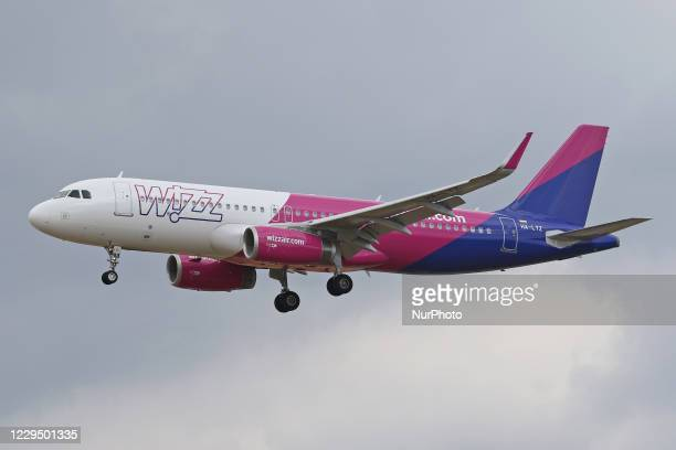Wizz Air Airbus A320 lands at Frankfurt Airport on 14th August 2018