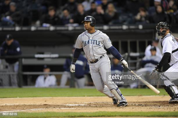 Wladimir Balentien of the Seattle Mariners bats against the Chicago White Sox during the second game of a double header on April 28 2009 at US...