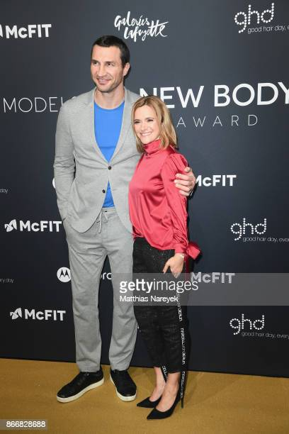 Wladimir Klitschko and CEO of McFIT Models Anja Tillack attend the New Body Award By McFit Models on October 26 2017 in Berlin Germany