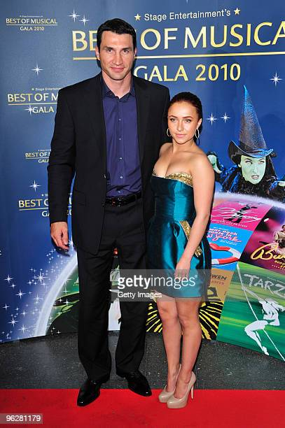 Wladimir Klitschko and Hayden Panettiere attend the 'Best of Musical Gala 2010' at the Color Line Arena on January 30 2009 in Hamburg Germany