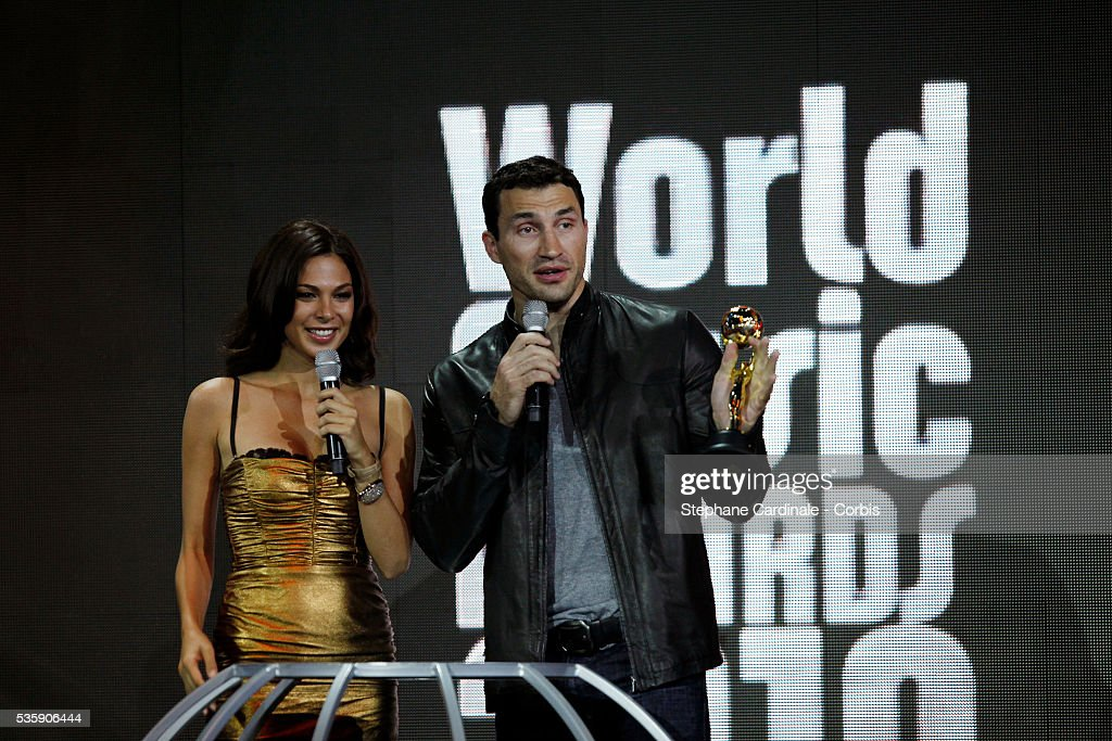 Wladimir Klitschko and Moran Atias at the 'World Music Awards 2010 - show' at the Sporting Club on May 18, 2010 in Monte Carlo, Monaco.